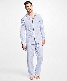 Alternating Framed Stripe Pajamas