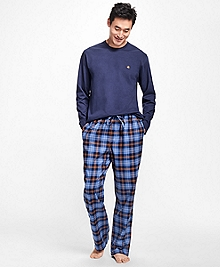 Plaid Flannel Lounge Set