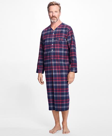 Three-Color Plaid Flannel Nightshirt