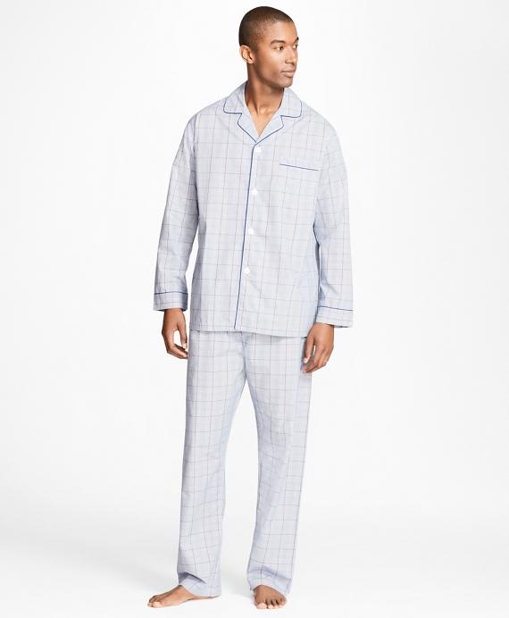 Plaid with Deco Pajamas Navy