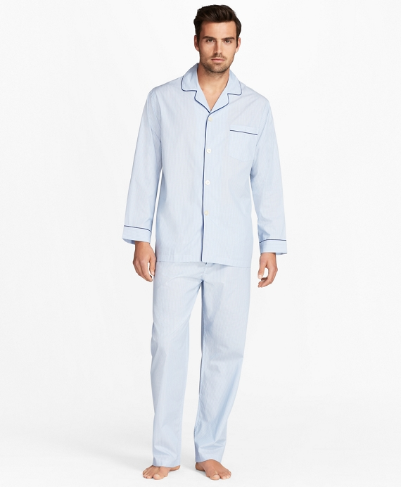 Mini-Music Stripe Pajamas Blue