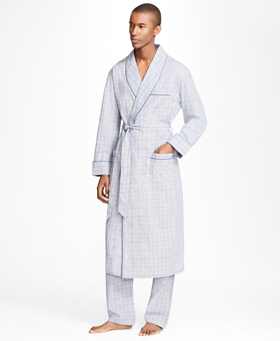 Plaid with Deco Robe Navy