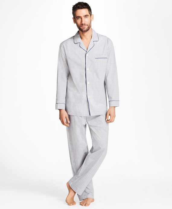Plaid Pajamas Grey
