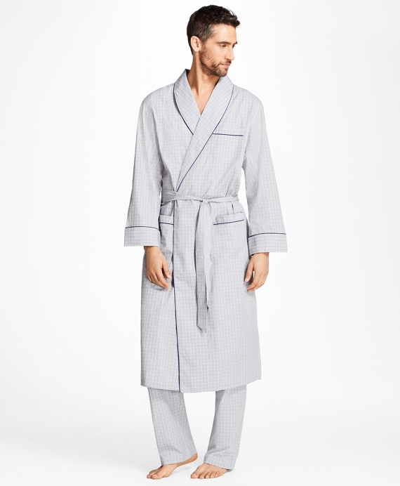 Plaid Robe Grey