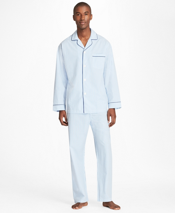 Seersucker Pajamas Blue