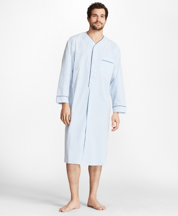 Seersucker Nightshirt Blue