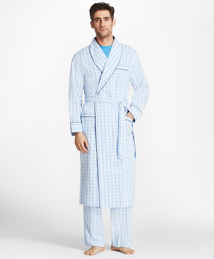Large Plaid Robe