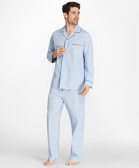 Sidewheeler Gingham Pajamas Blue