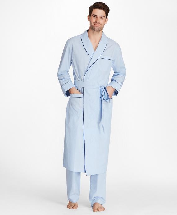 Sidewheeler Gingham Robe Blue