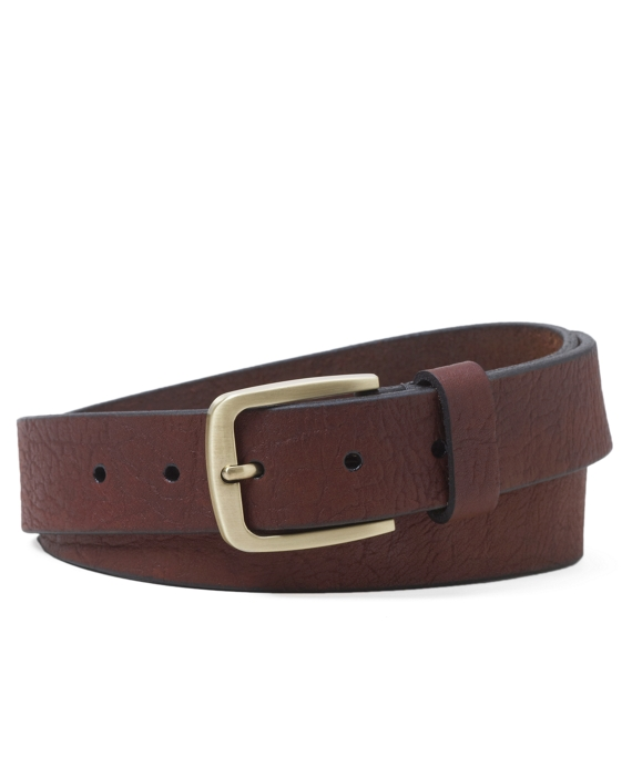 Bison Leather Belt Cognac