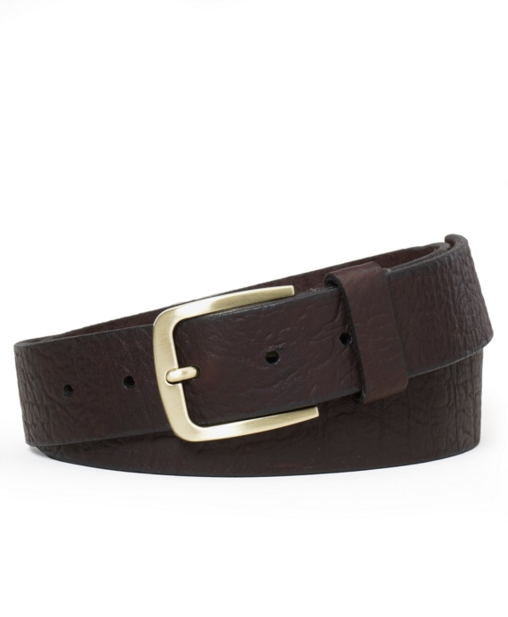 Bison Leather Belt Dark Brown