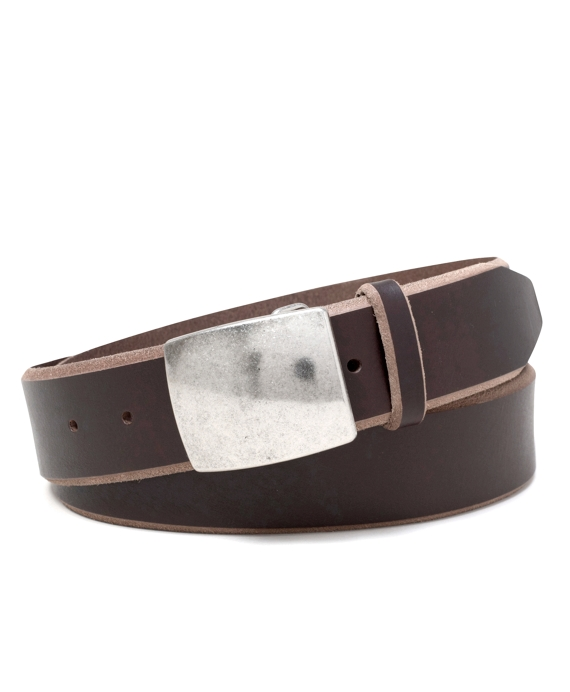 Distressed Leather Belt Dark Brown