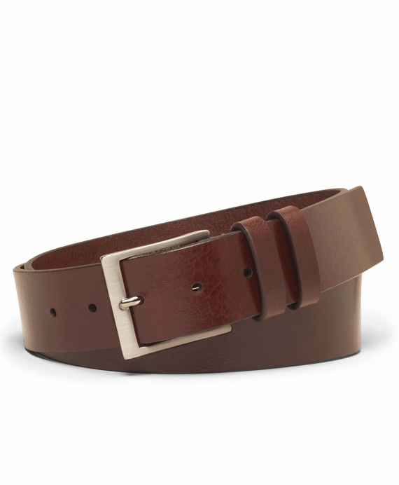 Square Buckle Belt Dark Brown