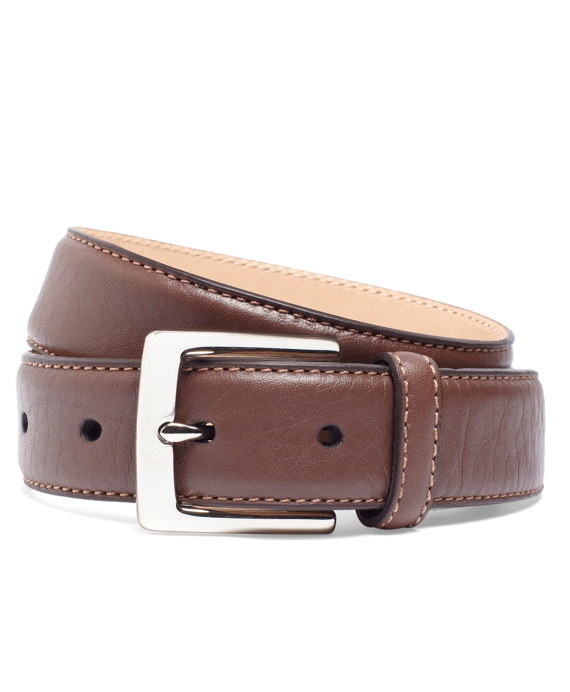 Contrast Stitch Belt Cognac