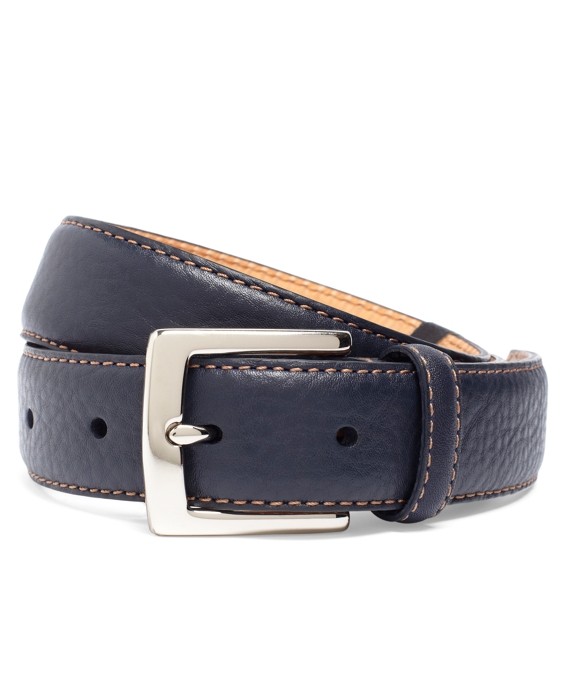 Contrast Stitch Belt Navy