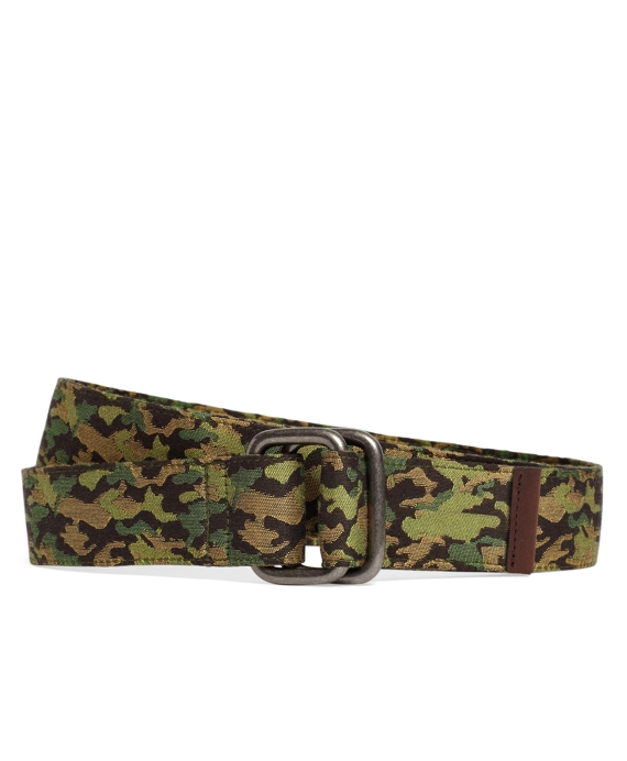 Camo D-Ring Belt Green Multi