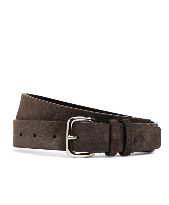 Harrys Of London® Suede Belt Dark Brown