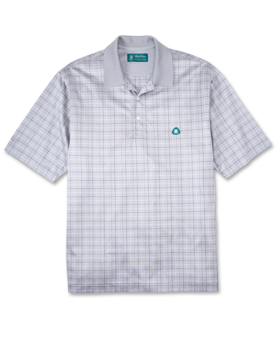 St Andrews Links Tattersall Lisle Polo Shirt Grey Multi