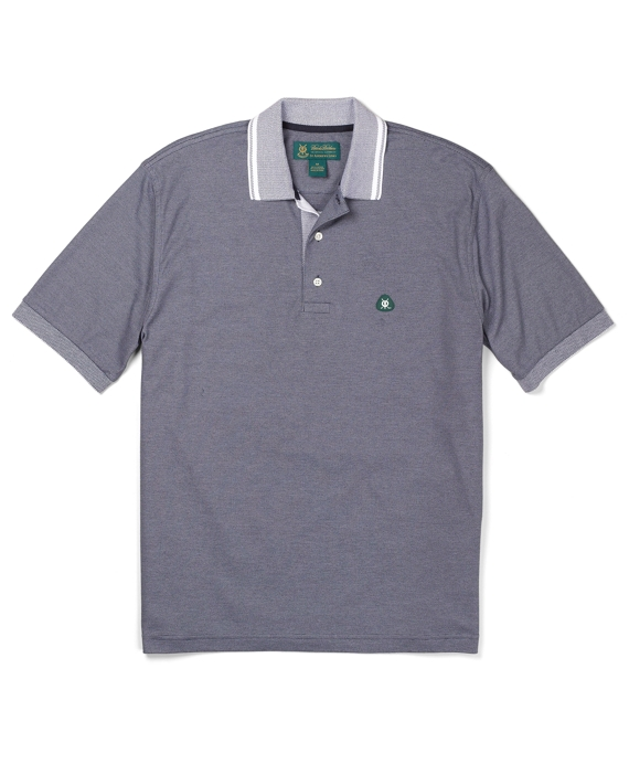 St Andrews Links End-on-End Stripe Active Polo Shirt Frost Grey