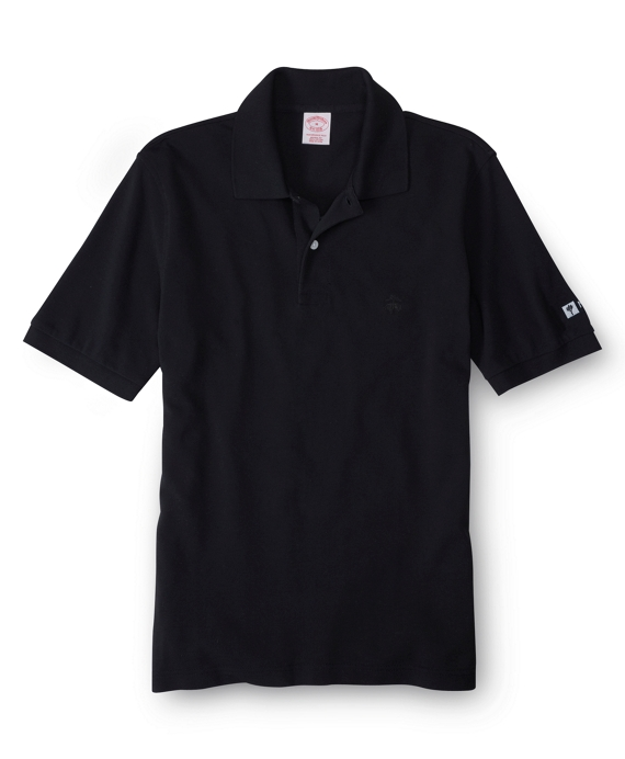 New York University Tonal Golden Fleece® Performance Polo Black