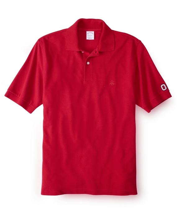 Ohio State University Tonal Golden Fleece® Performance Polo Red