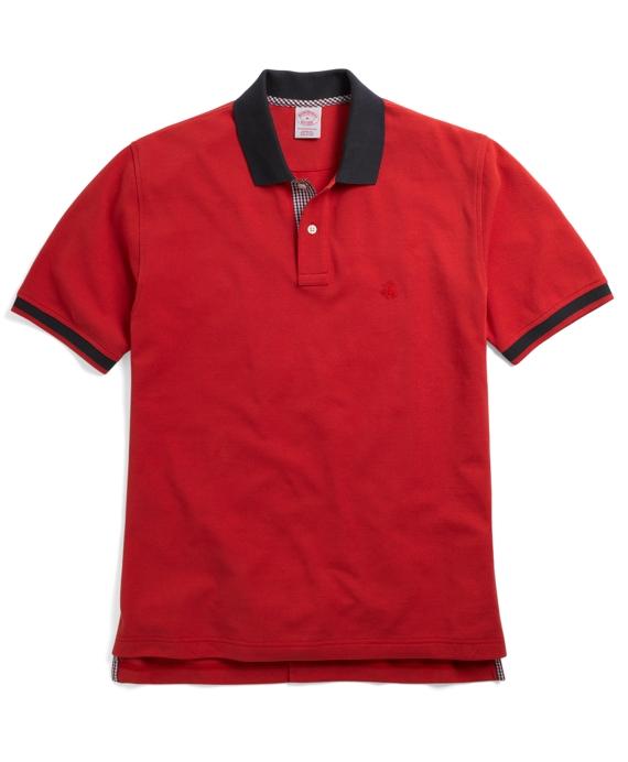 Golden Fleece® Tipped Polo Red