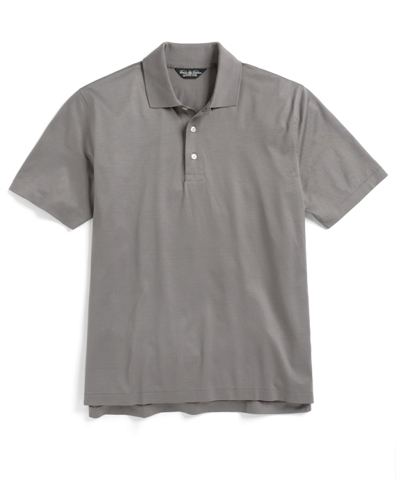 Country Club Lisle Polo Shirt Silver