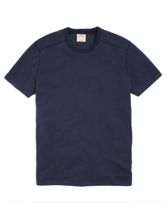 Sueded Jersey Core Tee Shirt Navy