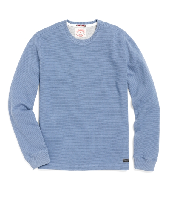 Thermal Crewneck Tee Shirt Blue