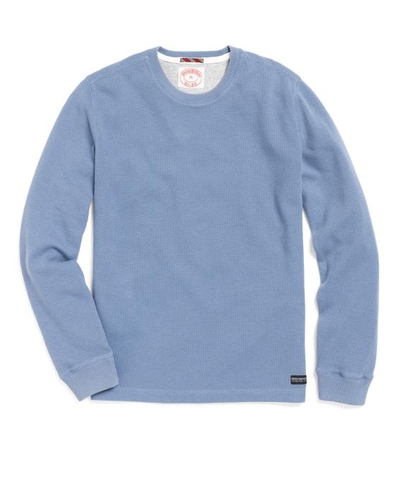 Thermal Crewneck Tee Shirt Blue
