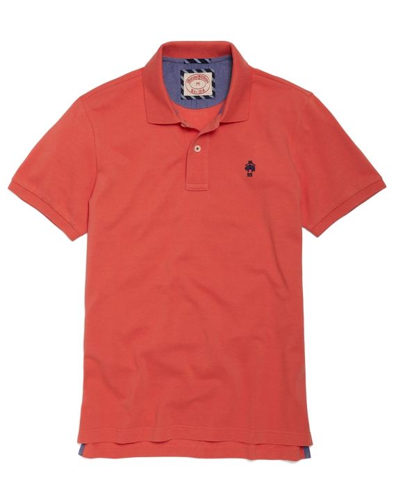 Solid Polo Shirt Coral