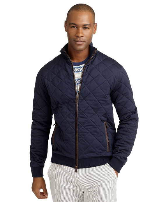 Quilted Knit Bomber Brooks Brothers