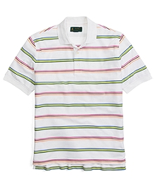 St Andrews Links Multi Bar Stripe Polo Shirt
