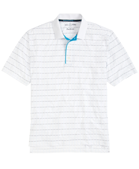 ProSport® Windowpane Polo Shirt Teal