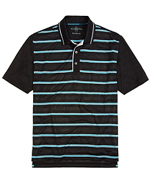 Prosport® Placed Stripe Polo Shirt