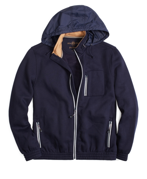 Prosport® Zip-Up Fleece Hidden Hoodie Navy