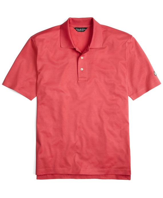 Country Club Solid Lisle Textured Polo Rose