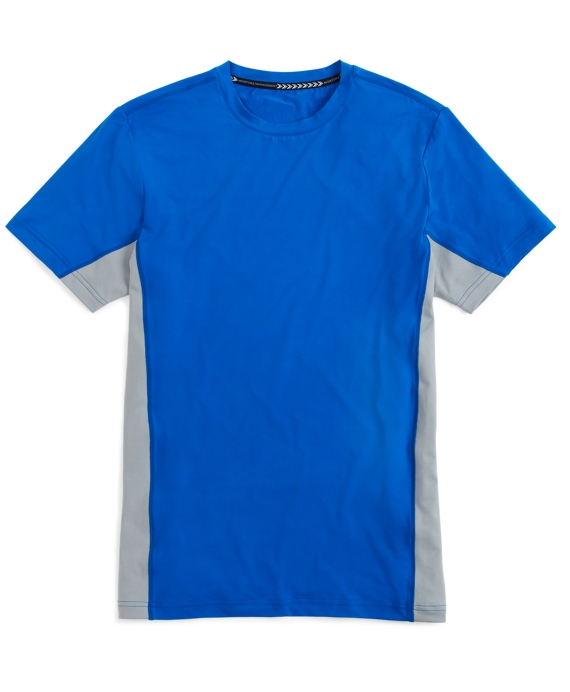 Prosport® Graphic Side Stripe Solid Tee Shirt Blue