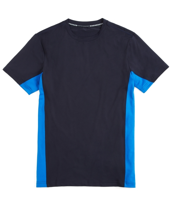 Prosport® Graphic Side Stripe Solid Tee Shirt Navy