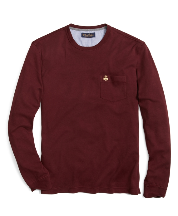 Golden Fleece® Pocket Tee Shirt Burgundy