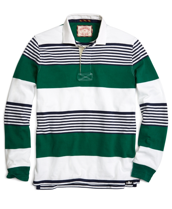 Multistripe Rugby Green