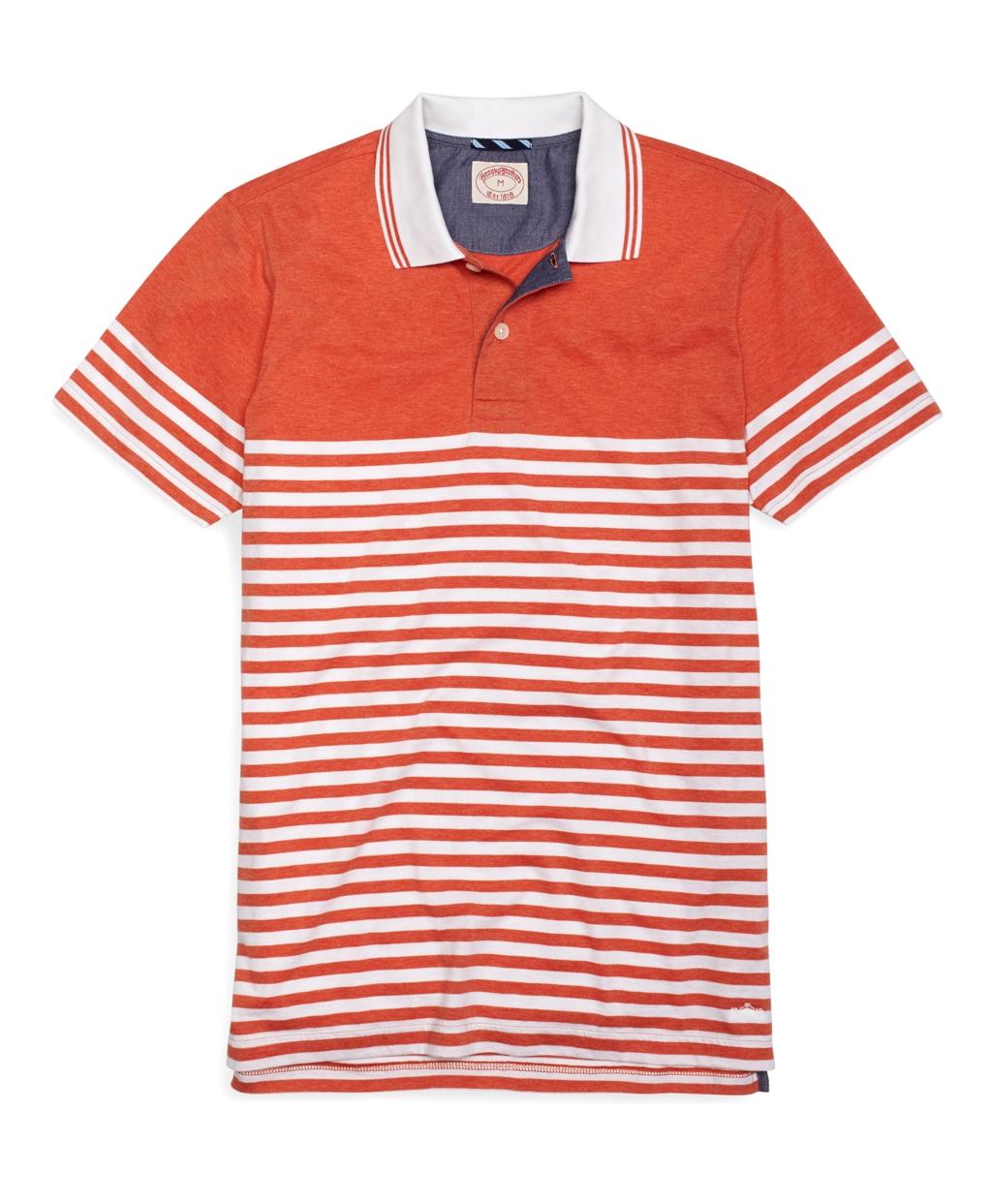 Orange Striped Polo Shirt Stripe Heather Polo Shirt