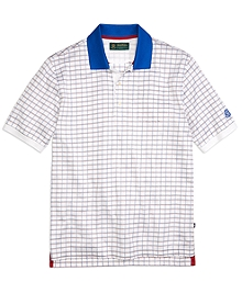 St Andrews Links Windowpane Lisle Polo Shirt