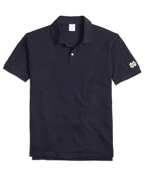 University of Notre Dame Slim Fit Polo Navy