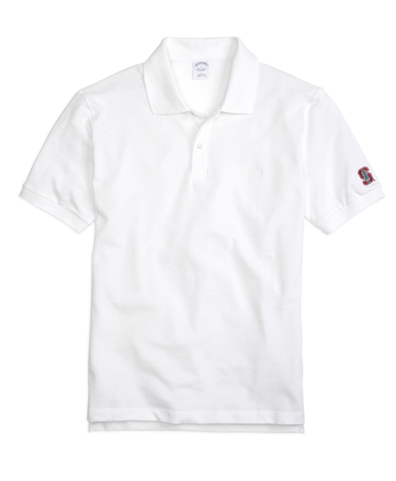 Stanford University Slim Fit Polo White