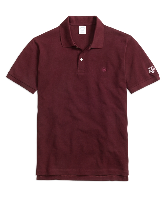 Texas A&M University Slim Fit Polo Maroon
