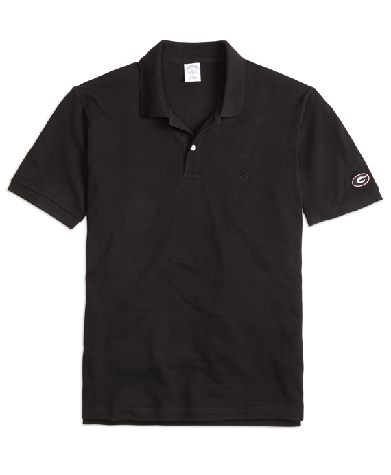 University of Georgia Slim Fit Polo Black