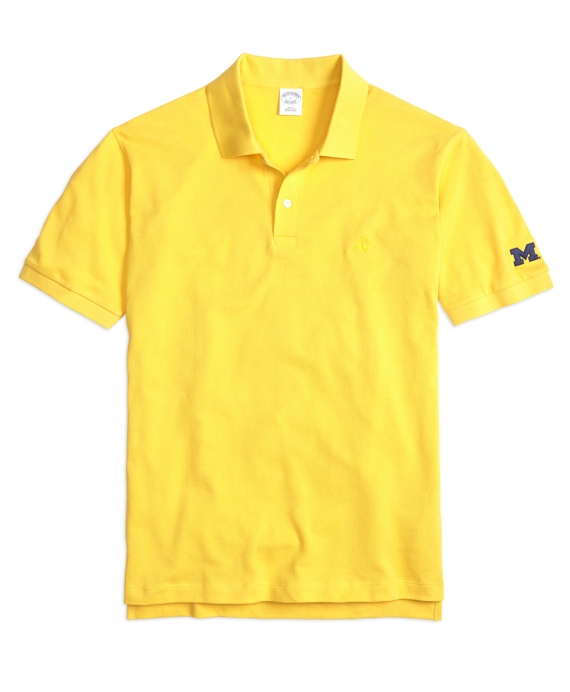University of Michigan Slim Fit Polo Maize