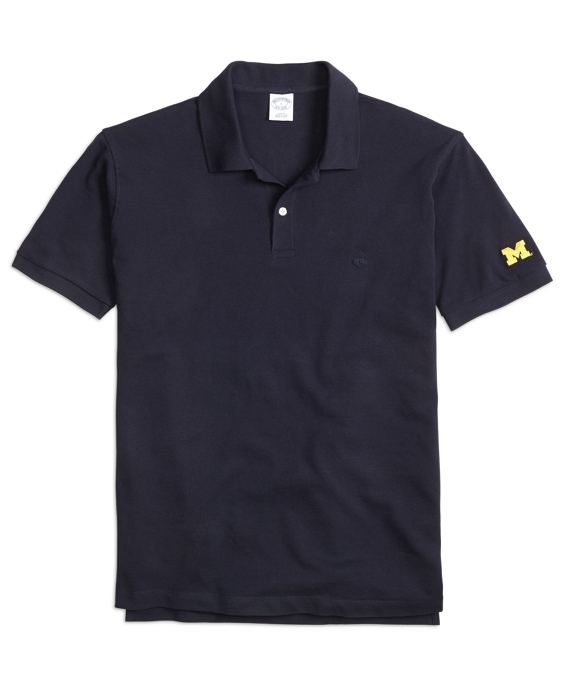 University of Michigan Slim Fit Polo Navy