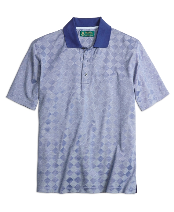 St. Andrews Links Textured Diamond Polo Blue